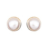 Plated Pearl Studs Gold