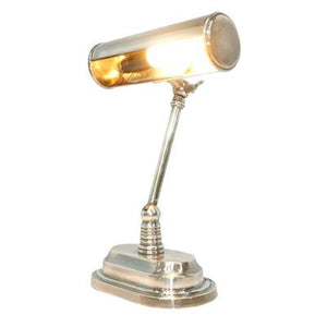 Carlisle Bankers Desk Lamp Antique Silver