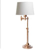 Macleay Swing Arm Table Lamp Base Brass