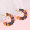 Tortoise Resin Hoops Brown