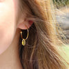 Gold Conch Hoops