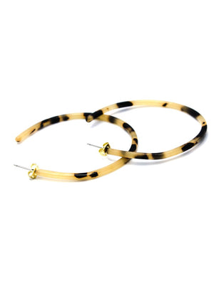 Light Tortoise Narrow Hoops