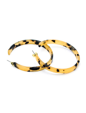 Light Tortoise Thick Hoops