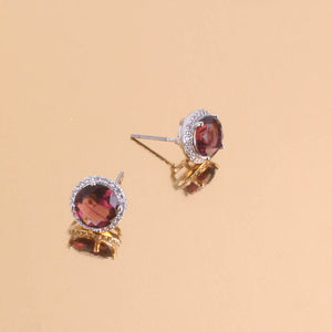 Crystal Studs Lilac