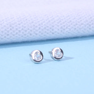 Small Crystal Studs Clear