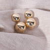 Large Gold Ball Studs Gold