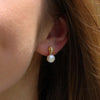 Pearl And Crystal Studs