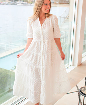 Angelina Dress White - PRE ORDER