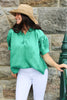 Short Sleeve Kell Linen Shirt Green