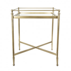 Z Side Table Ant Brass
