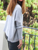 Lucy Batwing Sweater Grey