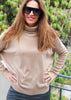 Lucy Batwing Sweater Camel