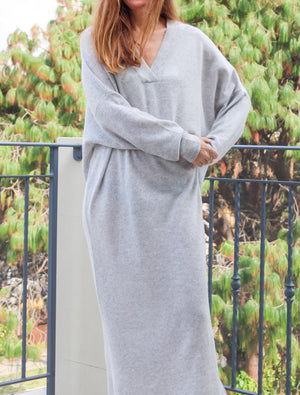 Cashmere Lounge Dress Grey