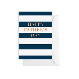 Classic Navy Stripe Father's Day Card