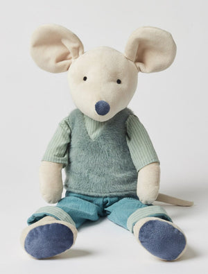 George Mouse With Fur Vest 60cm