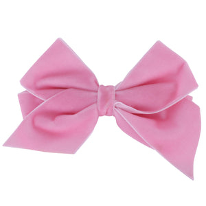 Velvet Bow Powder Pink