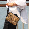 Cowhide Everyday Clutch Leopard Tan