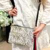 Cowhide Everyday Clutch Leopard White