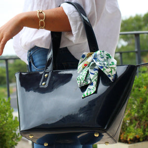 Cindy Zipper Tote Navy