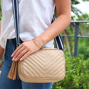 Ruby Speed Cross Body Bag Beige