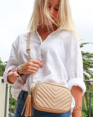 Baby Ruby Speed Cross Body Bag Beige