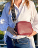 Ruby Sports Cross Body Bag Burgundy