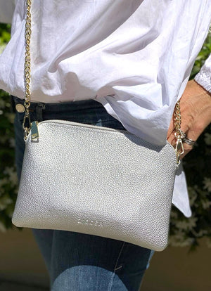 Hugo Cross Body Bag Silver