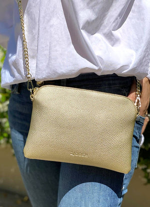 Hugo Cross Body Bag Gold
