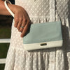 Mama Mia Two Tone Purse S19 Blue White