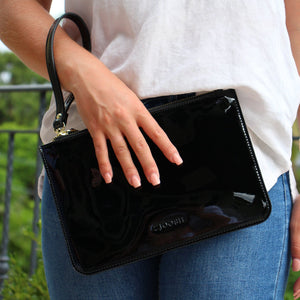 Hayley Clutch Patent Black