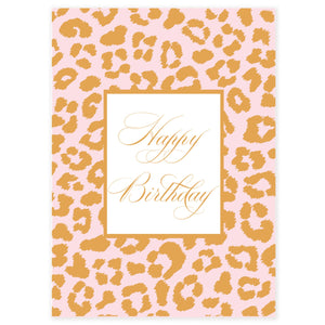 Happy Birthday Leopard Gift Card