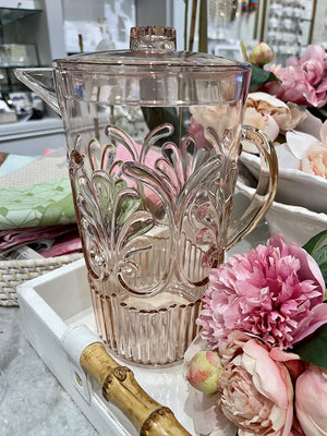 Acrylic Scollop Des Pitcher Blush