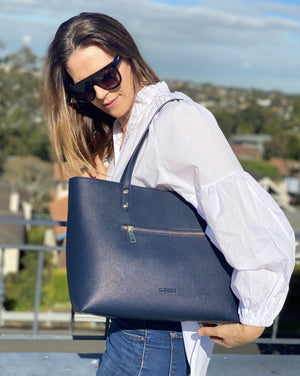 Pippa Lou Zip Front Tote Navy