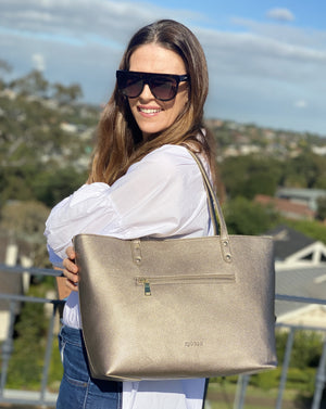 Pippa Lou Zip Front Tote Bronze