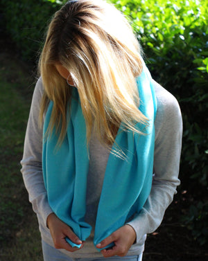 Cashmere Scarf Turquoise