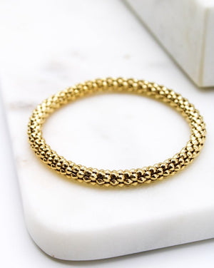 Gold Elasticated Bracelet