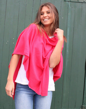 Classic Cashmere Poncho Flambe