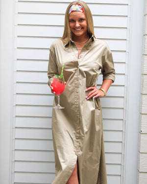 Kara Shirt Dress Khaki