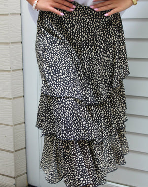 Jenny Skirt Leopard Black