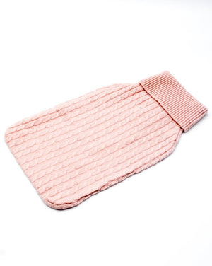 Cashmere Hot Water Bottle Cover Pink