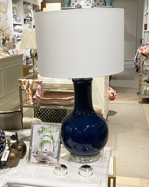 Ceramic Table Lamp Navy