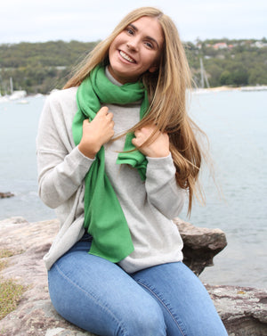 Cashmere Scarf Green