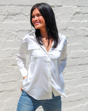 Caitlin Shirt Satin White