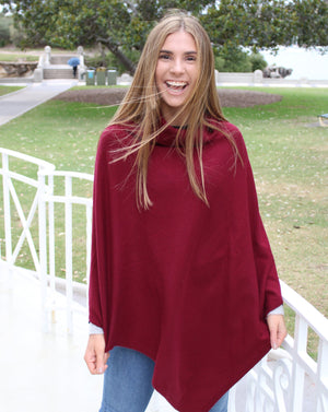 Turtle Neck Poncho Mulberry