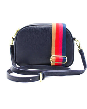 Lucia Curve Cross Body Bag Navy