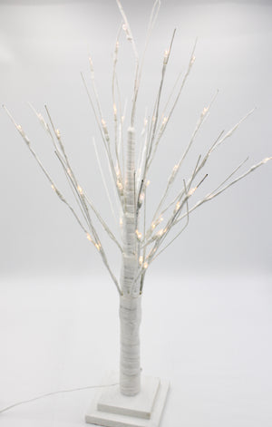 Table Top Tree With Warm Lights White Small