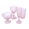 Honeycomb Wine Glass Pink