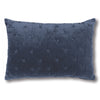 Vienna Cross Indigo Velvet Cushion Navy