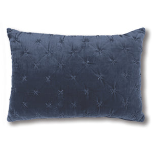 Vienna Cross Indigo Velvet Cushion