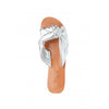 Issy Leather Knot Slide Silver